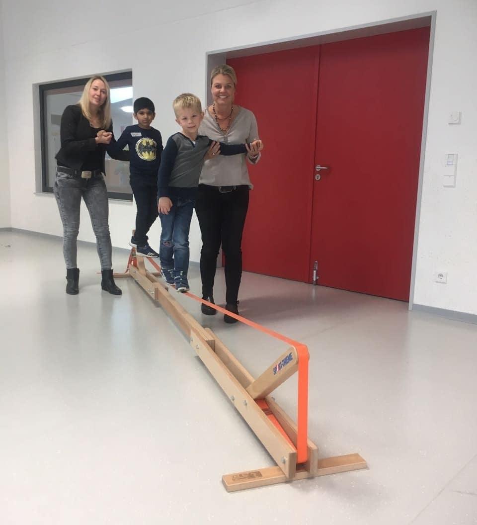 Eine Slag-Line für die Schüler der Marienwasser-Schule